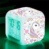 Wake Up Licht Lichtwecker, 8 natürlichen Klängen Kindertagesgeschenk für Kinder Mädchen 12/24...