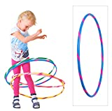 Bunter Kinder Hula Hoop Reifen in Hellblau-Pink