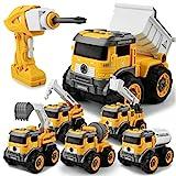 GizmoVine Bagger Spielzeug ,6 In 1 Ferngesteuertes Montage Baufahrzeug Autos,Sandkasten Spielzeug...