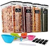 GoMaihe 4L Vorratsdosen 4 Set, Aufbewahrungsbox Küche Luftdicht Behälter aus Plastik Mit Deckel,...