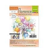 Vaessen Creative Florence Aquarellpapier A5 in Elfenbein Wei, aus 200 g/m Glattem Papier, 24 Blatt...