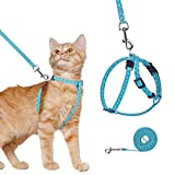 BINGPET Ausbruchsicheres Katzengeschirr mit Leine für Spaziergänge im Freien, verstellbar, weiches...