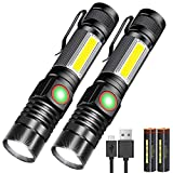 Karrong LED Taschenlampe Magnet Wiederaufladbare, Super Helle CREE Taschenlampen, Taktische USB...