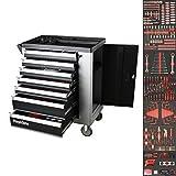 Mephisto Premium Werkzeugwagen Werkstattwagen mit Soft Inlays und 7 mit Werkzeug wie...