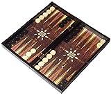 ATILLA 3in1 XXL Brettspiel NEU mit Tragetasche- Backgammon - TAVLA - Schach - Dame 47x47cm in...