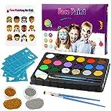 OVAREO Kinderschminke Set, Hochwertiges 16-Farben Kinder schminkset, Wasserlösliche Schminkfarbe,...