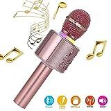 Karaoke-Mikrofon, Bluetooth, kabellos, Karaoke-Mikrofon für kinder, paarbar für Duetten mit bunten...