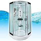 AcquaVapore DTP8046-1002 Dusche Dampfdusche Duschtempel Duschkabine 90x90, EasyClean Versiegelung...