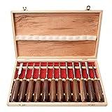 12 Stück Holz-Schnitzwerkzeug Set Stechbeitel Set, Holzschnitzmeißel-Set, Holzmeißelset Mit...