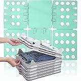 Azanaz Wäsche Faltbrett,T-Shirt Falthilfe,Kleidung Faltbrett,flexibel, Mode,Hosen Hemden Wäsche...