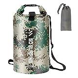 Walory Trockener Sack - 5L / 10L / 20L PVC Wasserdichter Packsack Rolltop Dry Sack für Camping...