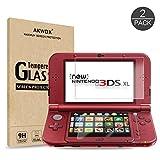 2 IN 1 Schutzfolie fr Nintendo 3DS XL Akwox 9H Hrtegrad Panzerfolie Displayschutz Glasfolie Stofest...