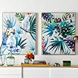 Moderne papagei Pflanze Blatt ölgemälde leinwand Kunst ölgemälde Geschenk Dekoration Wohnzimmer...