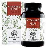 NATURE LOVE Vitamin B Komplex Forte - 180 Kapseln (6 Monate). Bis zu 10-fach höher dosiert als...