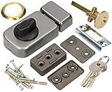 KOTARBAU® Zusatzschloss 50/60mm 3 Farben mit Schließzylinder Verschiedenschließend Kastenschloss...