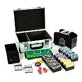 Pokerkoffer Deluxe Pokerset mit 300 Ocean Champion Chips mit viel Zubehör Kartenmischer...