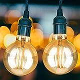 KOROSTRO Edison Vintage Glühbirne, Edison Lampe Warmweiß E27 40W G80 Retro Glühbirne Vintage...