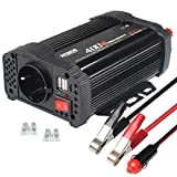 NDDI Wechselrichter 400W Auto Spannungswandler, 12V DC auf 230V AC Autokonverter Ladegerätadapter...