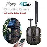 YANGFH Jagdkamera 4G Fotofalle Mit 3000mAh Solarpanel 1080P HD Video GPS Wildtier Trail...