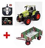 TRONICO Metallbaukasten 2.4G RC Traktor Claas mit Anhänger Konstruktionsspielzeug Mint STEM...