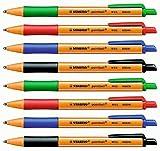 Kugelschreiber Pointball je 2 Stück schwarz, blau, grün, rot