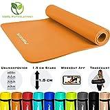 MSPORTS Gymnastikmatte Premium inkl. Tragegurt + bungsposter + Workout App I Hautfreundliche...