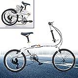 Berkalash Klapprad, 20 Zoll Faltrad Fahrrad 7 Gang Klappfahrrad Folding Bike, für Herren Damen...