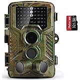 COOLIFE Wildkamera Fotofalle 21MP 1080P HD Jagdkamera Nachtsicht Bewegungsmelder IP66...