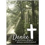15 x Danksagung Trauerkarten mit 15 Umschlgen im Set - Danke nach Trauer, Beerdigung, Sterbefall,...