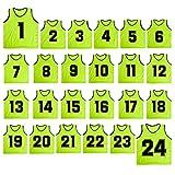 TopTie Basketball-Trikot Nr. 1 bis 24, Nylon, Netzgewebe, leicht, FITK-DK77103_Green-Child, grün,...
