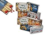 jameitop8 x 50er Packungen XL Streichholzschachteln, 10cm mit Weihnachten/Christmas Design...
