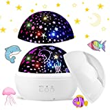 Funkprofi LED Sternenprojektor Lampe, 360 Grad Rotierenden Projektionslampe mit Sternenhimmel und...
