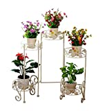 FSYGZJ Blumenständer Metall Faltbar 5 Töpfe Topf Blumen Pflanzenständer Rack Blumentopf Display...