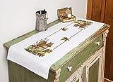 Kamaca Stickpackung Tischdecke EICHHÖRNCHEN Kreuzstich vorgezeichnet aus Baumwolle Stickset mit...