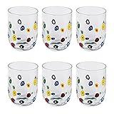 Leonardo Millefiori Trink-Gläser, handgefertigte Wasser-Gläser, Trink-Becher aus Glas mit...