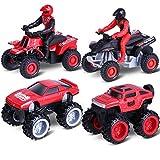 Aufziehautos Spielzeugautos, Toymus Legierungsspielzeug Auto, Motorrad, Auto Spielzeug, Reibung...
