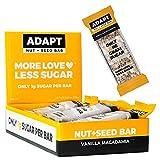 Adapt Nut + Seed Bar Proteinriegel - Low Carb, Keto & Vegan - Gesüßt mit Erythrit statt Zucker -...