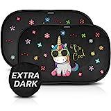 CARAMAZ Sonnenschutz Auto Baby mit Zertifiziertem UV Schutz - extra dunkel 51x31cm - 2 Stück...