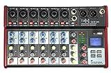 E-Lektron SE-8 Live Mischpult 6-Kanal Mixer + USB/Bluetooth/Soundkarte inkl. Phantom