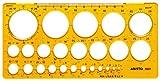 Aristo Kreisschablone (25 Kreise, Durchmesser 1 - 36 mm, formstabiler PET-Kunststoff)...