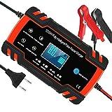 Yomao Autobatterie Ladegeräte 8A 12V/24V Vollautomatisches Batterieladegerät KFZ mit...
