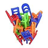 Zerodis 18 STÜCKE Balancing Spielzeug Kunststoff Stühle Bunte Mini Stacking Intelligence...