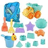 Strand Spielzeug fr Kinder, Kleinkinder im Freien Sandburg Strandspielzeug Sets mit Auto Eimer...