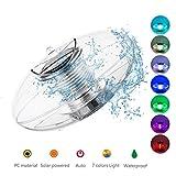 Linkax Poolbeleuchtung Pool Licht Wasser Schwimmende Lampen Solar Schwimmkugel Wasserdicht...
