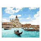 wqavten Venice Boat Puzzle 1000 Teile Puzzle Weiße Karte Erwachsenen Kinder Lernspielzeug