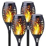 Kinglead Solarleuchte Garten Fackel Flammenlicht Flammen IP55 Gartenleuchten Solar LED Fackel Licht...