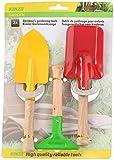 3 tlg. Gartenset - Schaufel - Rechen - Spaten - aus Holz und Metall - für Kinder und Erwachsene -...