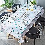 ZSWFGG PVC-Tischdecke wasserdicht und ölfrei Einweg-Kunststoff-Tischdecke Couchtisch rechteckigen...
