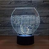3d nachtlicht usb 3d illusion lampe aquarium form acryl 3d nachtlicht led illusion usb nachtlicht...