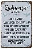 Hioni Zuhause ist Da Wo Die Liebe Wohnt Vintage Blechschild Poster Wandschild Wand Dekoration...